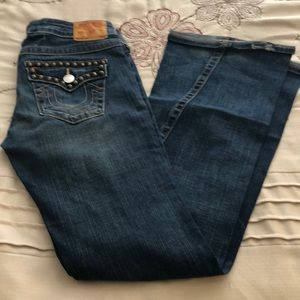 bellbottom size 29 with metal stud details.